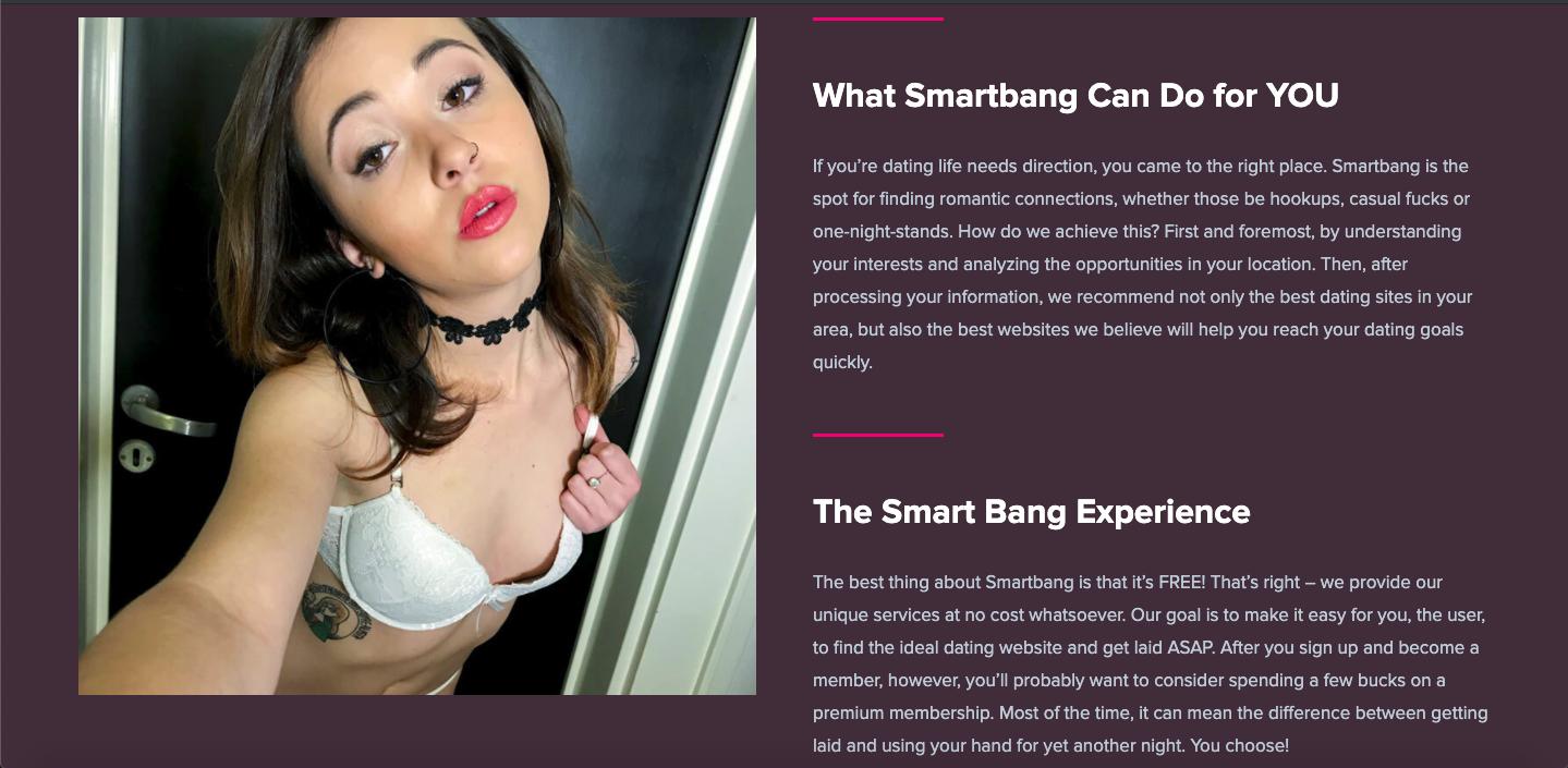 SmartBang landing page