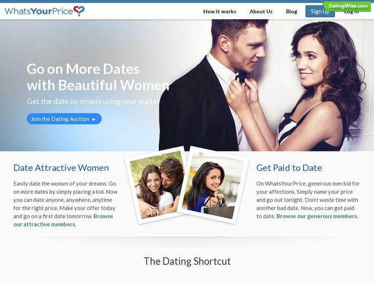 WhatsYourPrice—A Perfect Dating Site for a Perfect First Date