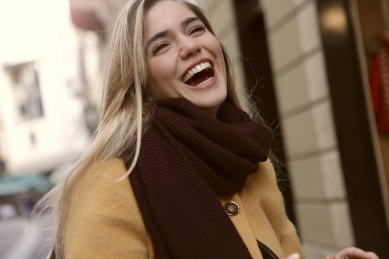 Laughing Woman charm women with humor