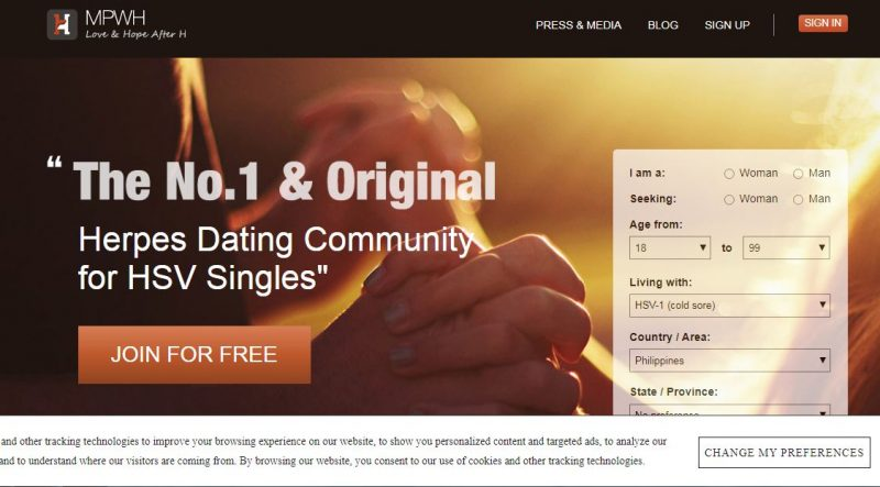 MPwH dating sites for STD