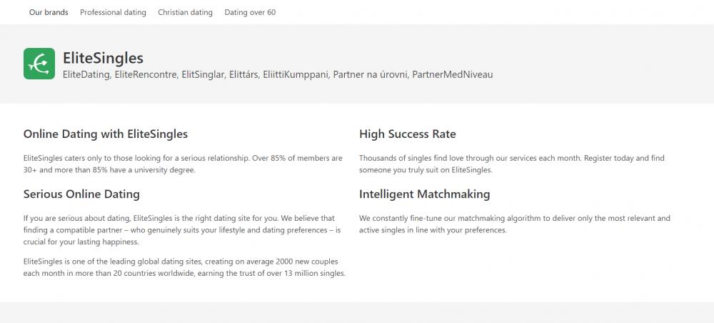 Elite Singles website