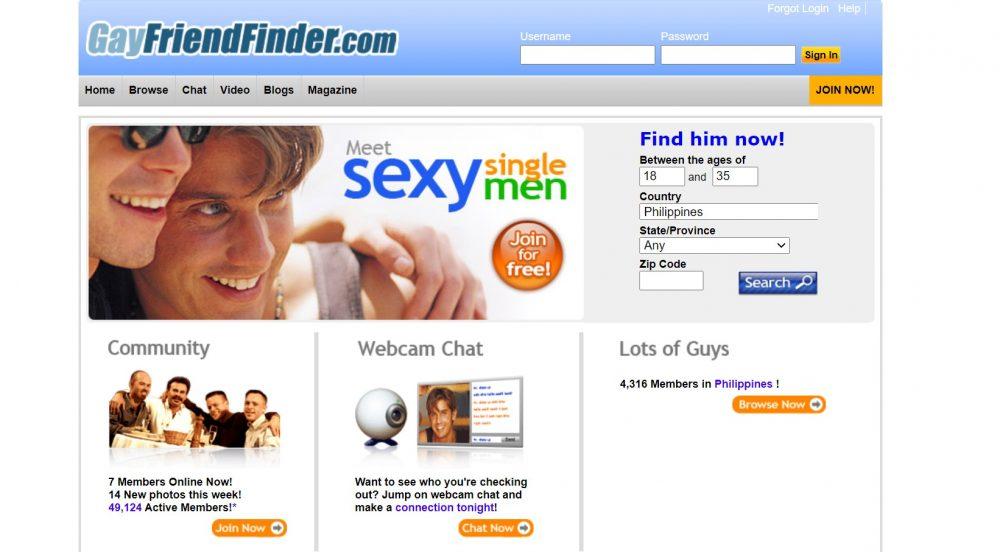 GayFriendFinder online dating