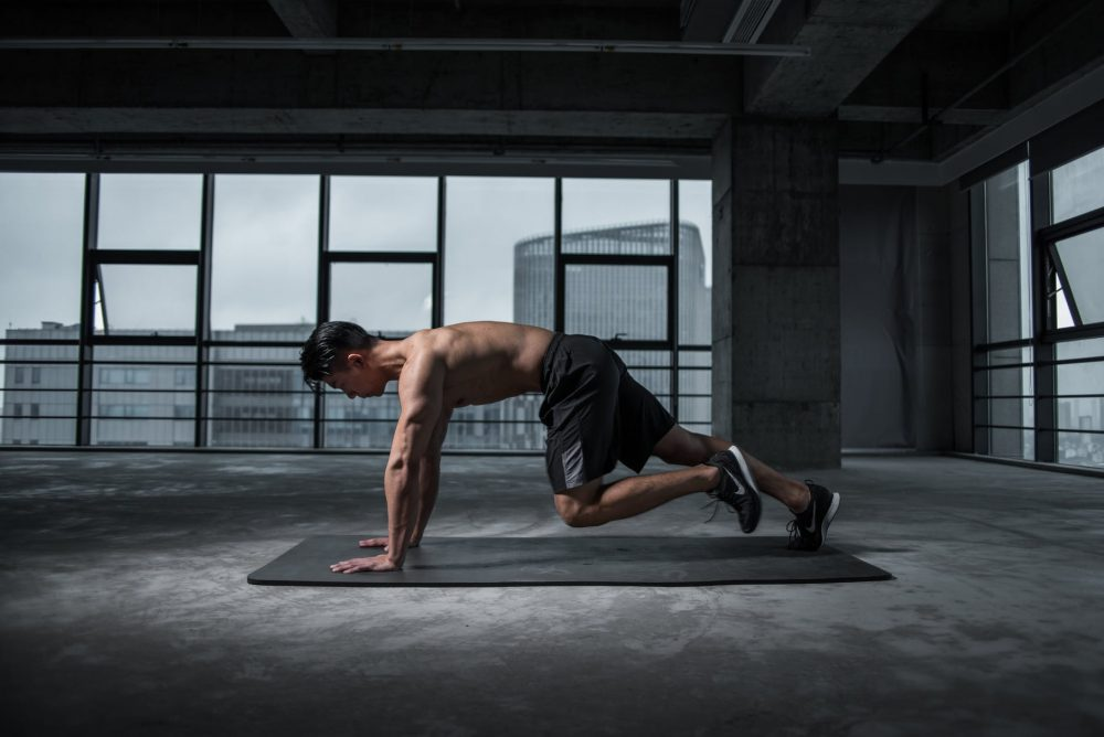 Man working out exercise
