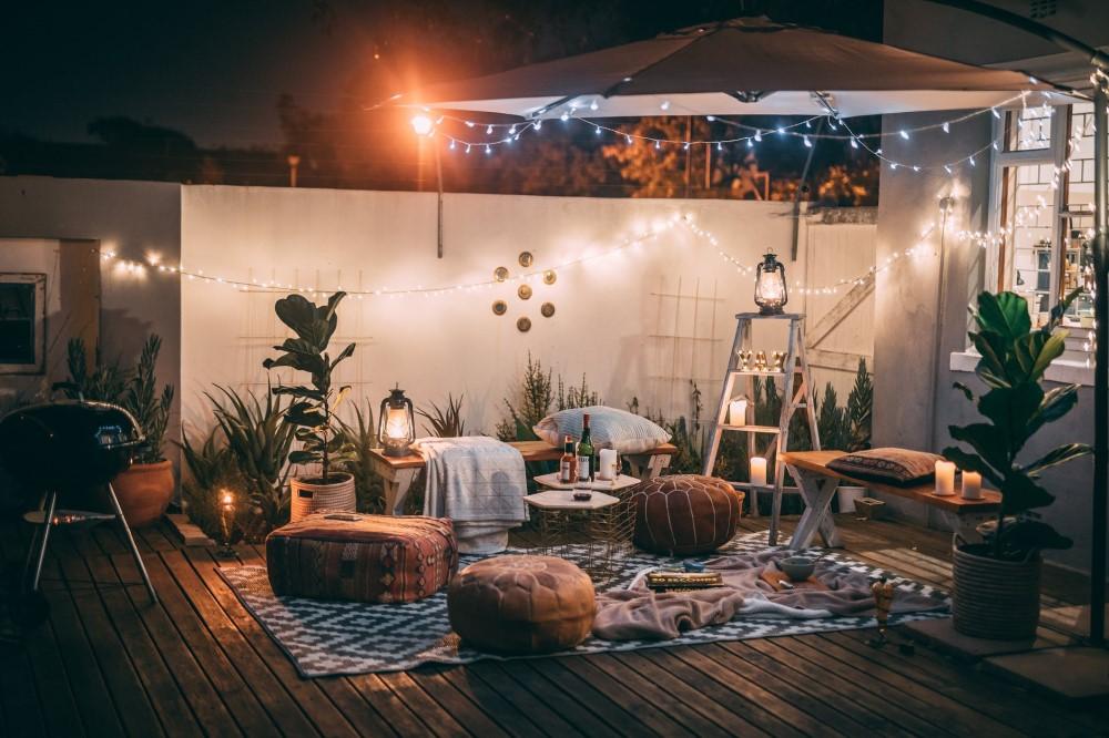 DIY date night set up