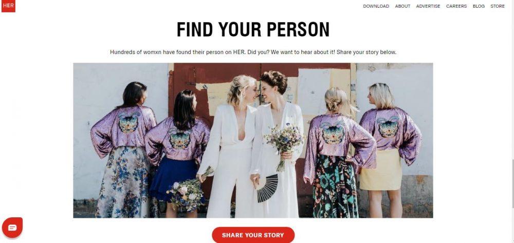 HER Dating website queer
