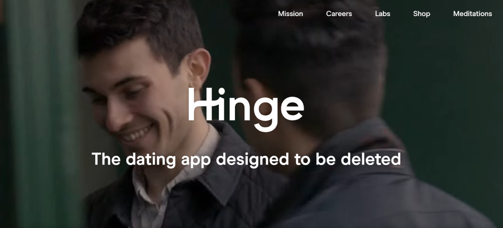 Hinge website look